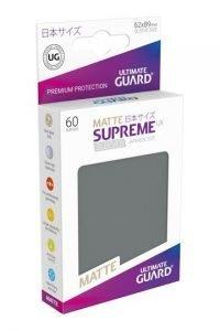 Ultimate Guard Supreme UX Sleeves Fundas de Cartas Tamaño Japonés Gris Oscuro Mate