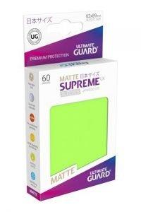 Ultimate Guard Supreme UX Sleeves Fundas de Cartas Tamaño Japonés Verde Claro Mate (60)