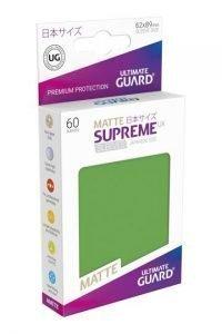 Ultimate Guard Supreme UX Sleeves Fundas de Cartas Tamaño Japonés Verde Mate (60)