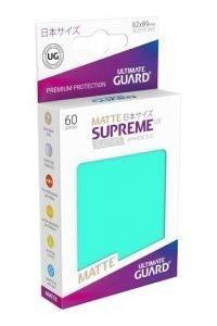 Ultimate Guard Supreme UX Sleeves Fundas de Cartas Tamaño Japonés Turquesa Mate (60)