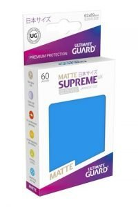 Ultimate Guard Supreme UX Sleeves Fundas de Cartas Tamaño Japonés Azul Real Mate (60)