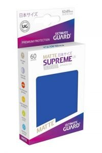 Ultimate Guard Supreme UX Sleeves Fundas de Cartas Tamaño Japonés Azul Mate (60)