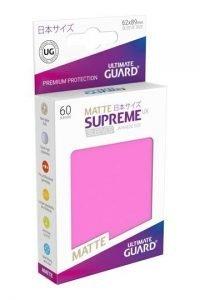 Ultimate Guard Supreme UX Sleeves Fundas de Cartas Tamaño Japonés Fucsia Mate (60)