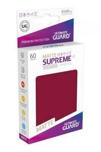 Ultimate Guard Supreme UX Sleeves Fundas de Cartas Tamaño Japonés Borgoña Mate (60)